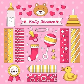 Conjunto de álbum de recortes de baby shower