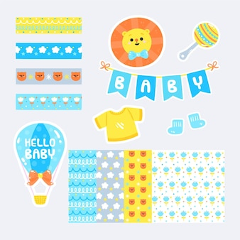 Conjunto de álbum de recortes de baby shower