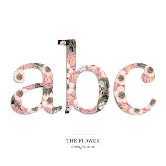 Conjunto de alfabeto floral