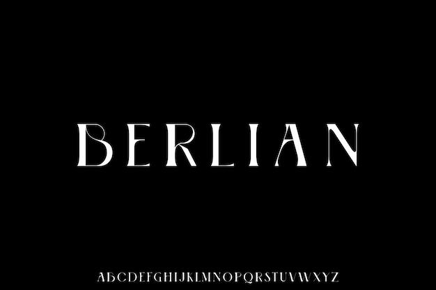Conjunto de alfabeto de fuente moderna de lujo