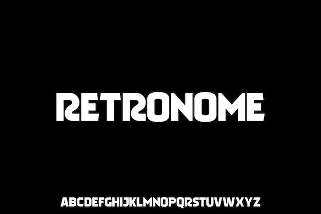 Conjunto de alfabeto de fuente de pantalla de título retro clásico
