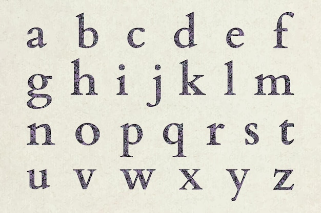 Conjunto de alfabeto con motivos florales