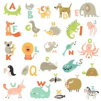 Conjunto de alfabeto de niños