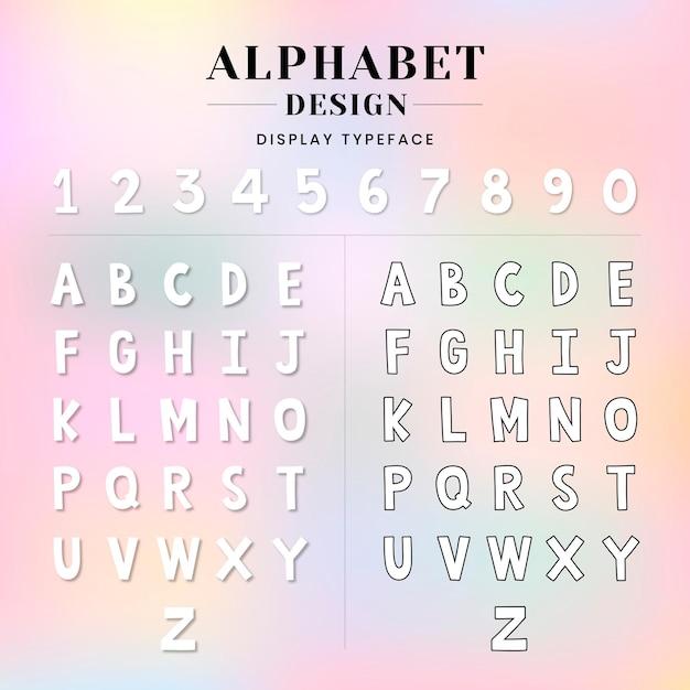 Conjunto de alfabeto y números