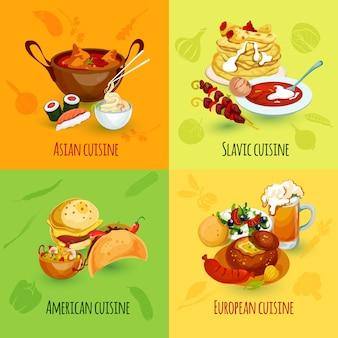 Conjunto de alimentos del mundo