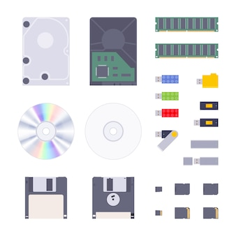 Conjunto de almacenaje de memoria digital.