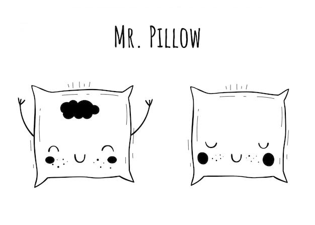 Conjunto de almohadas vector.