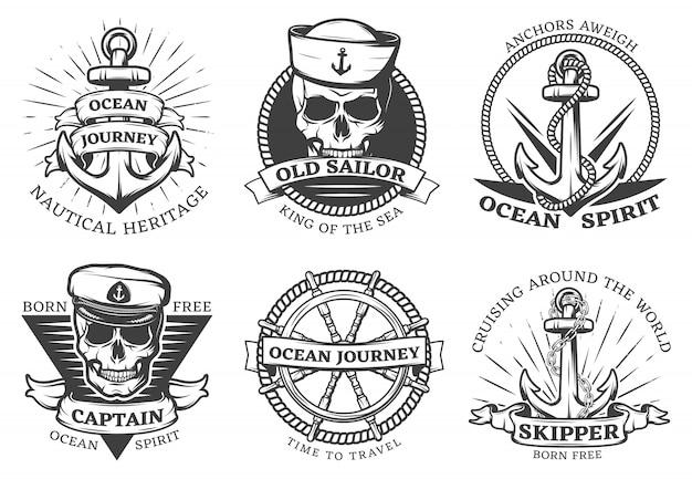 Conjunto de ancla de tatuaje antiguo