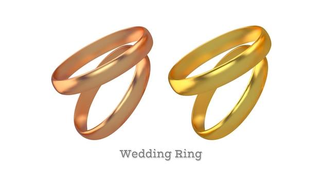 Conjunto de anillos de compromiso de oro