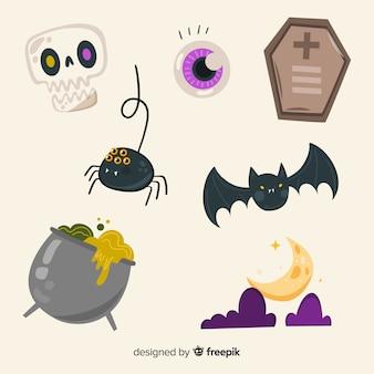 Conjunto de animales y cosas malvadas