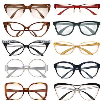 Conjunto de anteojos modernos