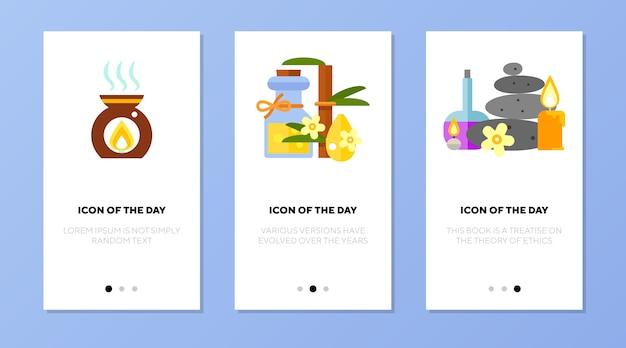 Conjunto de aplicaciones de pantalla de cosas de spa
