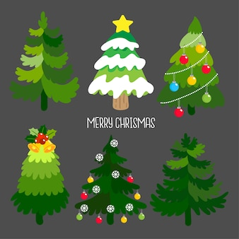 Conjunto de arbol de navidad