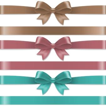 Conjunto de arcos de color pastel