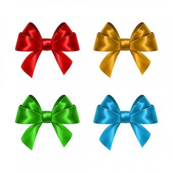 Conjunto de arcos de regalo colorido.