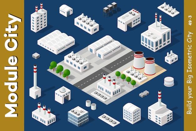 Conjunto de áreas urbanas de módulos.