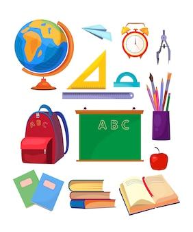 Conjunto de asignaturas escolares