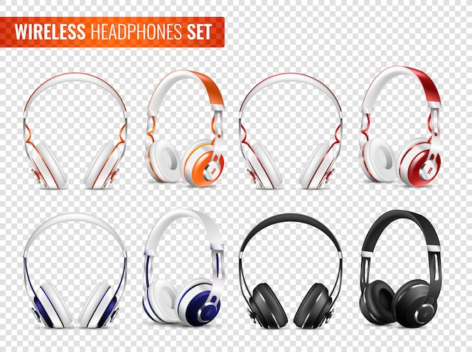 Conjunto de auriculares inalámbricos realistas