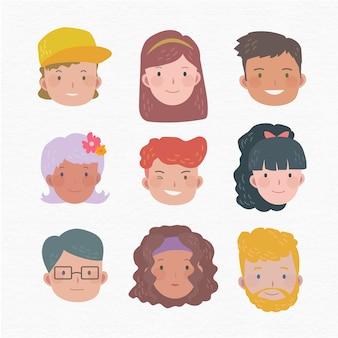 Conjunto de avatar de personas