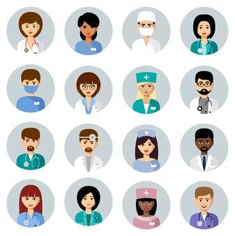 Conjunto de avatares médicos