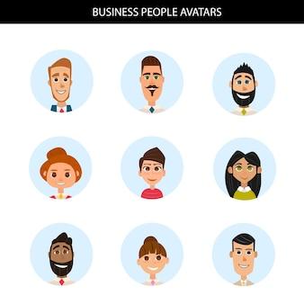 Conjunto de avatares de negocios