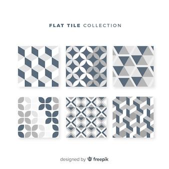 Conjunto de azulejos en estilo flat