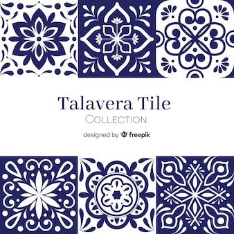 Conjunto de azulejos talavera