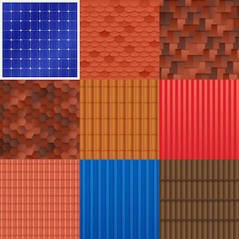 Conjunto de azulejos de techo de casa