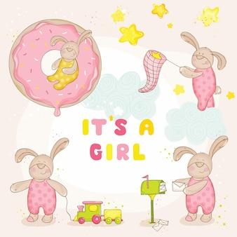 Conjunto de baby bunny baby shower