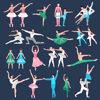 Conjunto de bailarines de ballet