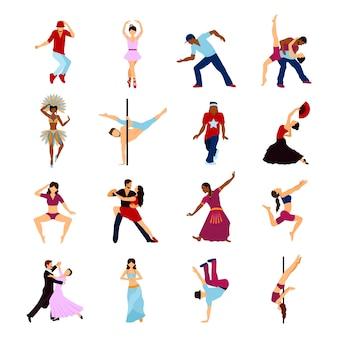 Conjunto de baile de personas