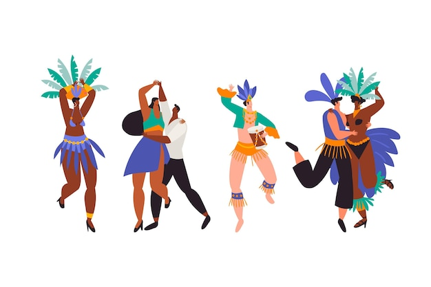 Conjunto de bailes de carnaval brasileño.