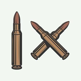 Conjunto de balas retro vintage se puede utilizar para logo