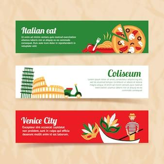 Conjunto de la bandera de italia
