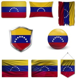 Conjunto de la bandera nacional de venezuela.
