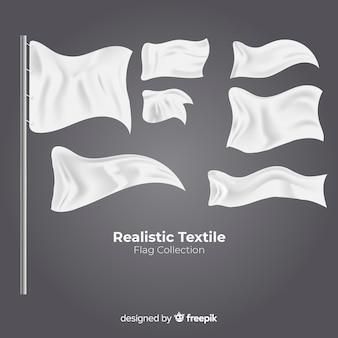 Conjunto de banderas de tela