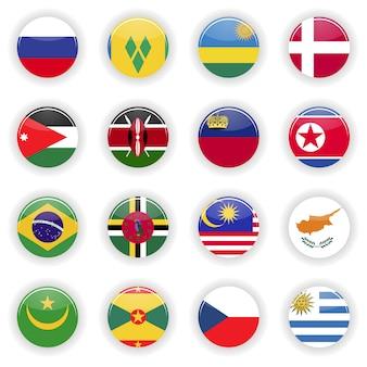 Conjunto de banderas