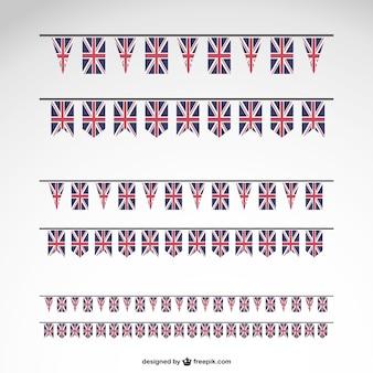 Conjunto de banderines de reino unido