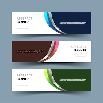 Conjunto de banner abstracto moderno