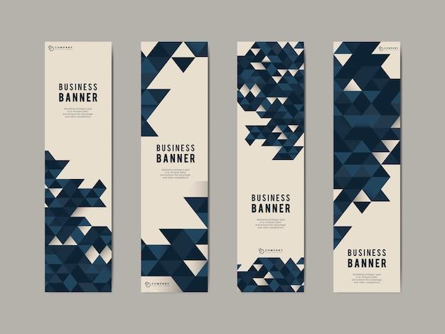 Conjunto de banner abstracto de negocios