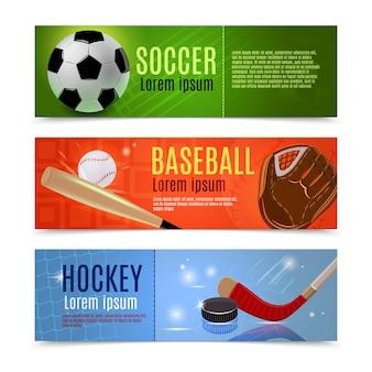 Conjunto de banner deportivo