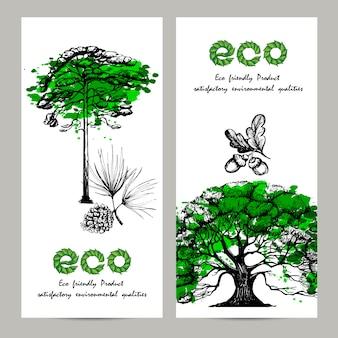 Conjunto de banner ecología