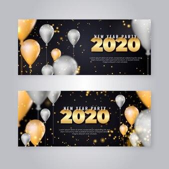 Conjunto de banner de fiesta de año nuevo