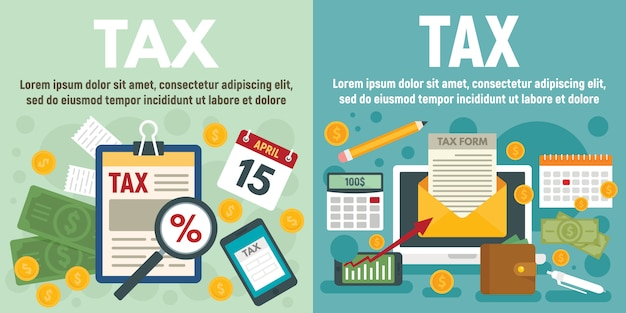 Conjunto de banner de impuestos