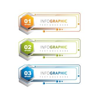 Conjunto de banner de infografía