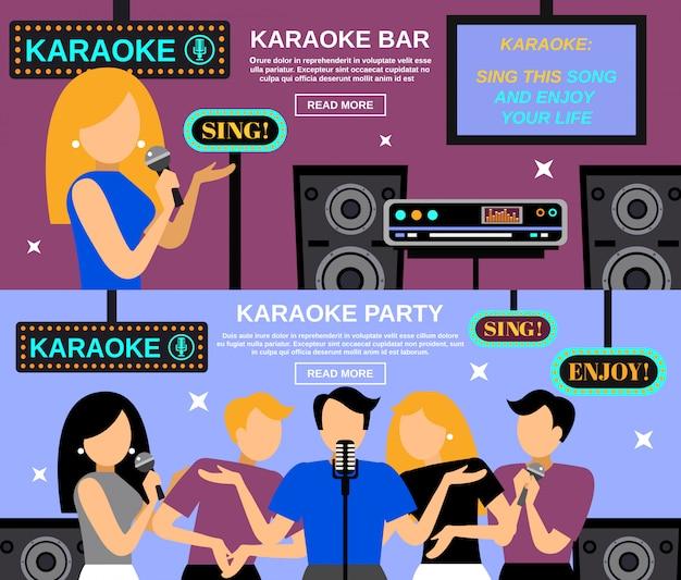 Conjunto de banner de karaoke