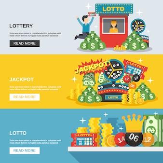 Conjunto de banner de lotería