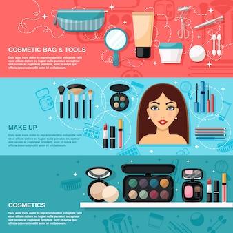 Conjunto de banner de maquillaje