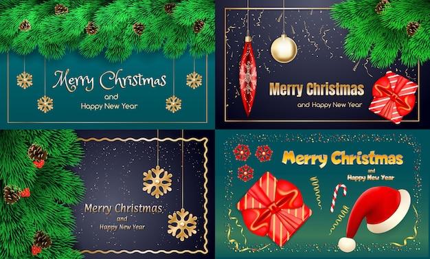 Conjunto de banner de navidad
