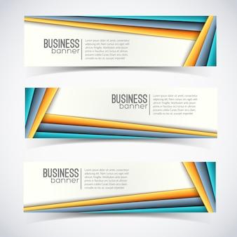 Conjunto de banner de negocios horizontal